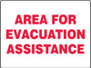 Area For Evacuation Assistance