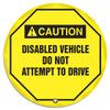 "Accuform KDD728 - ANSI Caution Safety 20"" Steering Wheel Cover: Disabled Vehicle Do Not Attempt To Drive"