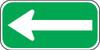 Left Arrow Sign white-green