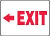 (Arrow Left) Exit - Adhesive Dura-Vinyl - 10'' X 14''