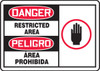 SBMADM160MVS Bilingual Safety Sign- Restricted Area Sign