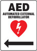 AED Automated External Defibrillator Sign 1