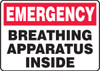Breathing Apparatus Inside - Adhesive Vinyl - 7'' X 10''