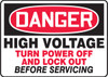 High Voltage Turn Power Off And Lock Out Before Servicing