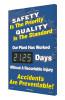 Digi Day 3 Electronic Safety Scoreboard Accuform SCK125