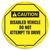 "Accuform KDD717 - ANSI Caution Safety 16"" Steering Wheel Cover: Disabled Vehicle Do Not Attempt To Drive"