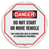 "Accuform KDD831- OSHA Danger 24"" Steering Wheel Message Cover: Do Not Start Or Move Vehicle"