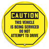 """Accuform KDD834- OSHA Danger 24"""" Steering Wheel Message Cover: Do Not Start Or Move Vehicle"""