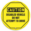 "Accuform KDD833 - OSHA Caution 24"" Steering Wheel Message Cover: Disabled Vehicle Do Not Attempt To Drive"