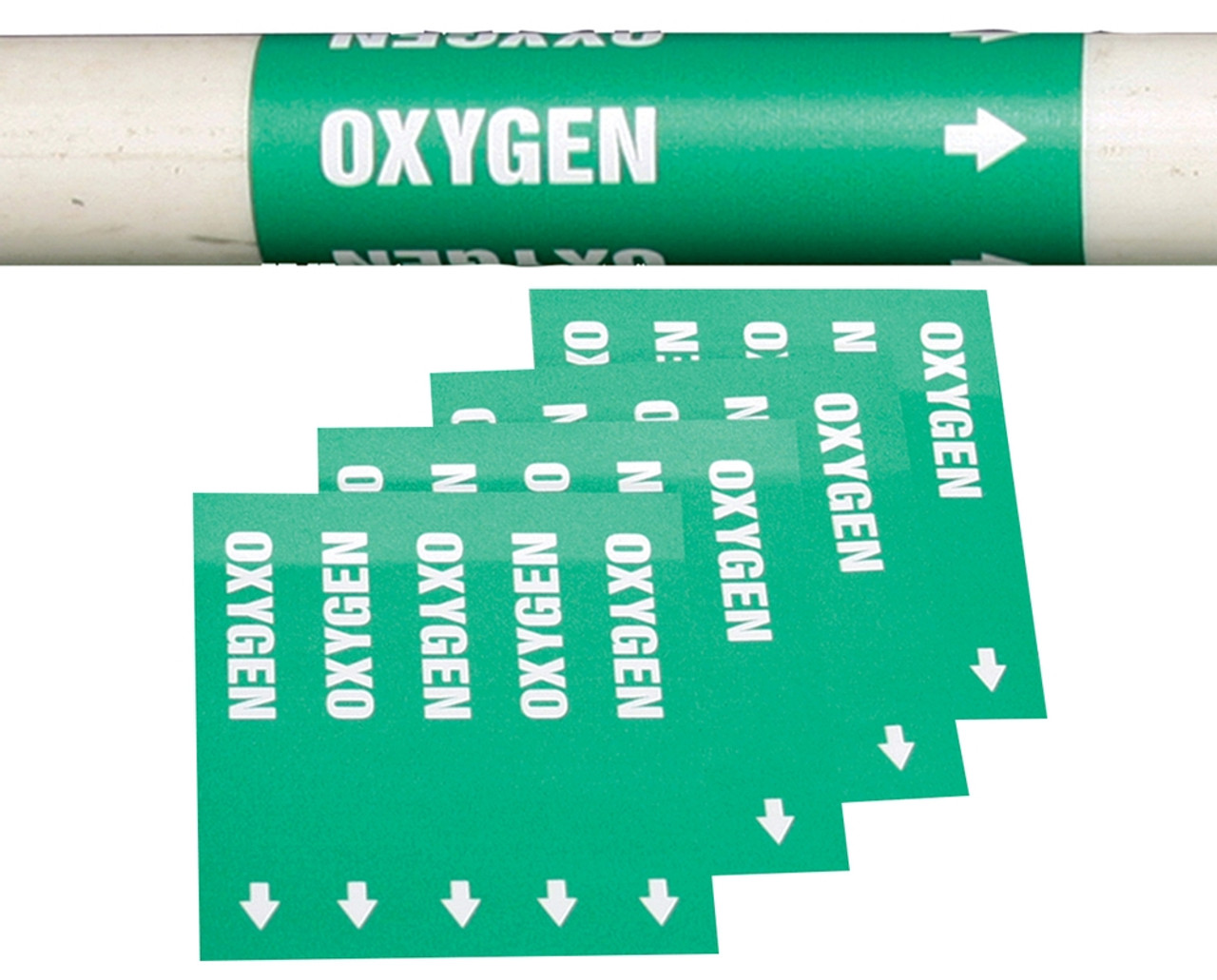 MEDICAL OXYGEN PIPE MARKERS Gas Pipe Markers