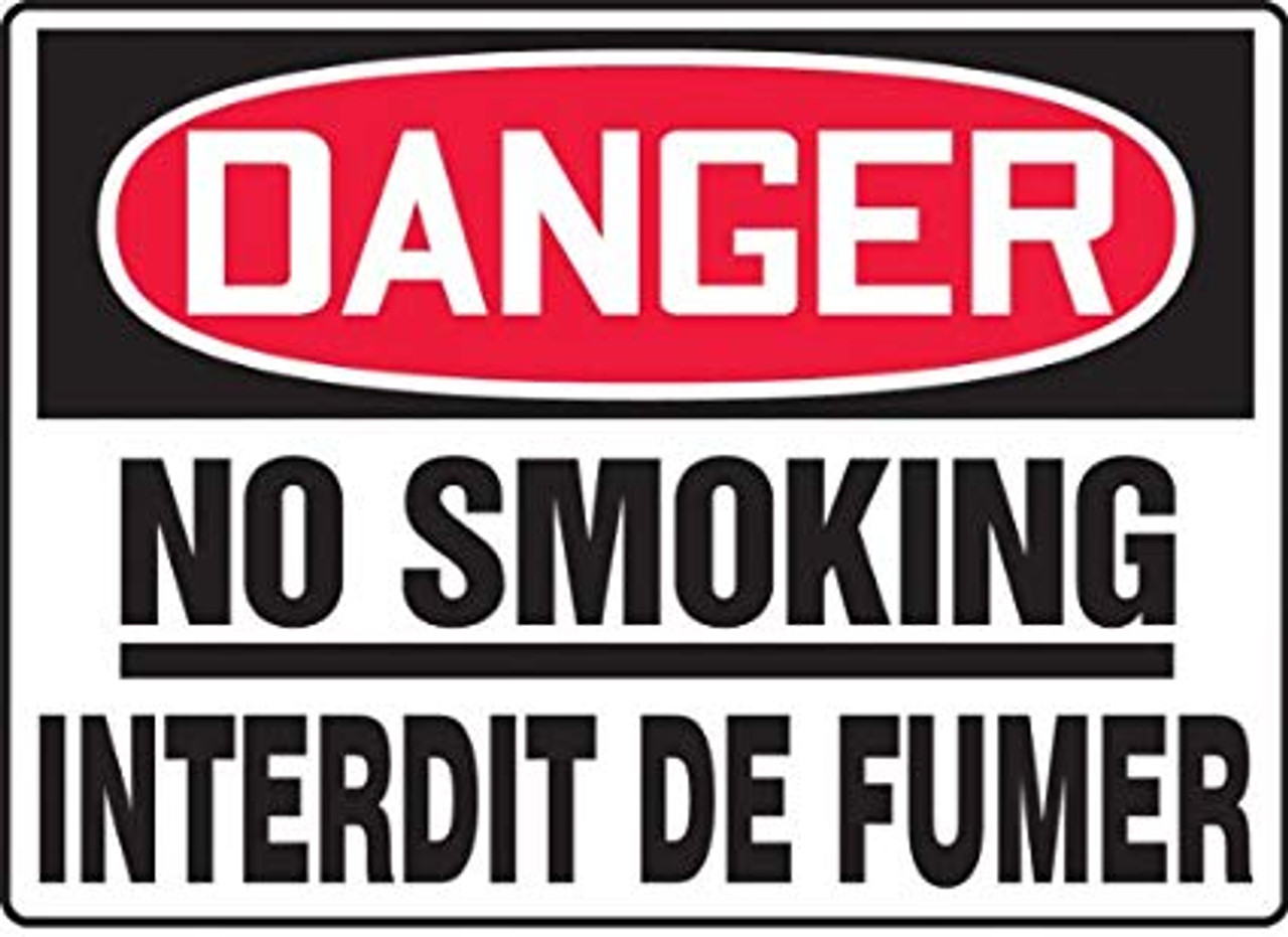 No Smoking Interdit De Fumer Plastic 14 X 10 2