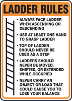 Ladder Rules Sign - adhesive vinyl label- MCRT543VS