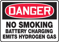 Danger No smoking battery charging emits hydrogen gas sign