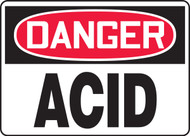 MCHL208XF Danger Acid Sign