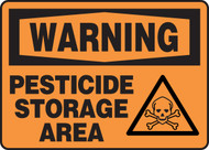 Warning - Pesticide Storage Area
