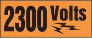2300 Volts Voltage Markers