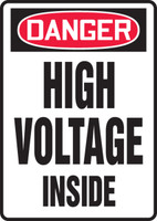 MECL033XT Danger high voltage inside sign