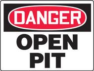 MCSP083VP Danger open pit sign