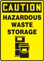 Caution - Hazardous Waste Storage (W/Graphic) - Dura-Plastic - 14'' X 10''