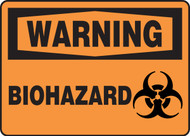 Warning - Biohazard Sign (W/Graphic) - .040 Aluminum - 10'' X 14''