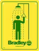 Bradley 114-050 Emergency Shower Safety Sign