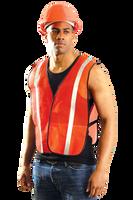 Reflective Safety Vest- Orange 2-3XL (6 vests)