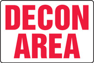 DECON Area Safety Sign MCHL500