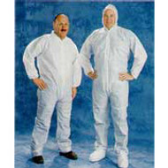 Disposable White Coveralls Hood & Boot (2XL) 25/case