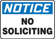 MADM804XL Notice no Soliciting Sign