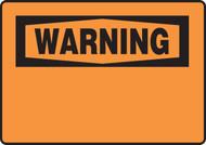 Warning Blank Sign
