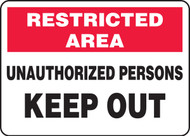 Unauthorized Persons Keep Out Sign