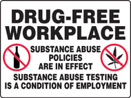 MADM504VA Drug free workplace sign