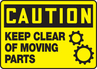 Caution - Keep Clear Of Moving Parts Sign