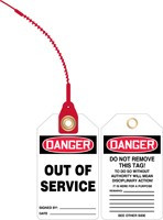 Danger Out of Service Loop n Lock Safety Tag 1