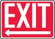 Exit (Arrow Left) - Dura-Plastic - 10'' X 14''