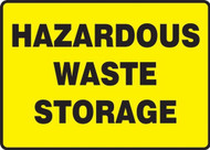 MCHL566VS Hazardous Waste Storage Sign