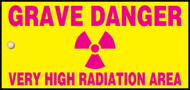 Grave Danger Very High Radiation Area Sign