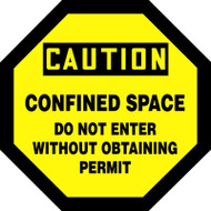 Caution - Confined Space Do Not Enter Without Obtaining Permit - Plastic - 12'' X 12''
