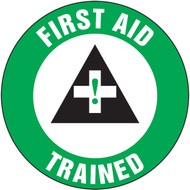 "First Aid Trained Hard Hat Label- 2 1/4"" 10/pkg"