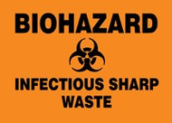 Biohazard Infectious Sharp Waste