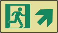 Graphic With Arrow Diagonal Up Right Sign- Glow Sign