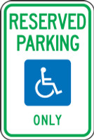 Michigan Reserved Parking Only Sign