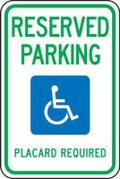 (Hawaii) Reserved Parking Placard Required (w/graphic)