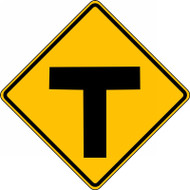 Intersection Warning Sign  T-Intersection  FRW402RA