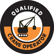 Qualified Crane Operator Hard Hat Decal