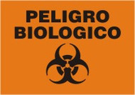 Peligro Biologico - Spanish Safety Sign