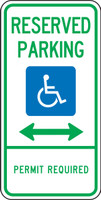 Deleware Handicapped Reserved Parking Permit Required Sign