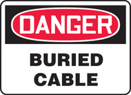 Danger - Buried Cable - Re-Plastic - 14'' X 20''