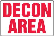 Decon area sign MCHL500XT