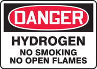 Danger - Hydrogen No Smoking No Open Flames